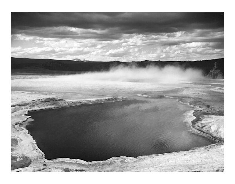 Fountain Geyser Pool Yellowstone National Park Wyoming - Ansel Adams desde AUX BEAUX-ARTS, Prodi Art, ANSEL ADAMS, fuente, cielo, Yellowstone