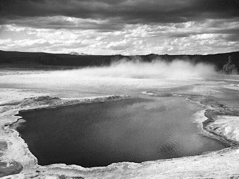 Fountain Geyser Pool Yellowstone National Park Wyoming - Ansel Adams desde AUX BEAUX-ARTS Decor Image