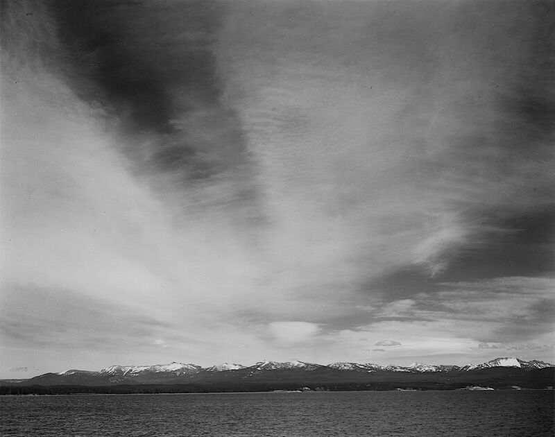 """Wider Strip Of Mountains """"Yellowstone Lake"""" - Ansel Adams from AUX BEAUX-ARTS Decor Image"""