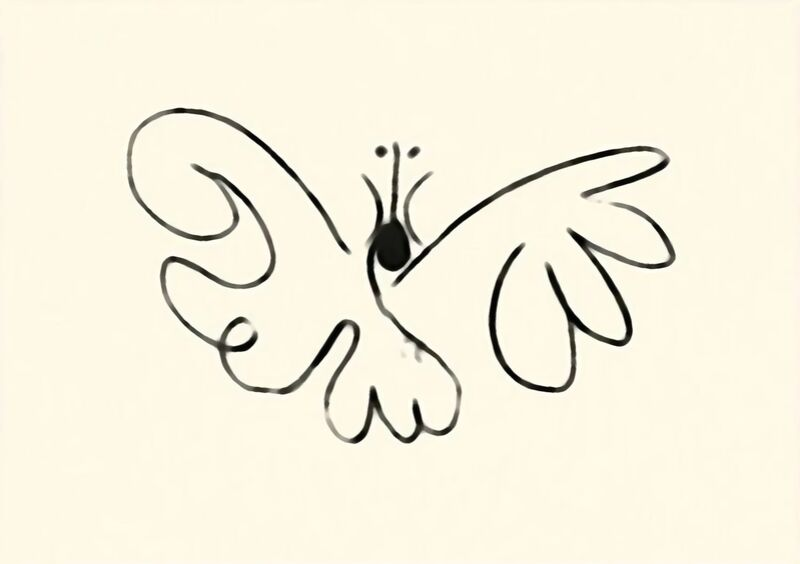 The Butterfly - Picasso desde AUX BEAUX-ARTS Decor Image