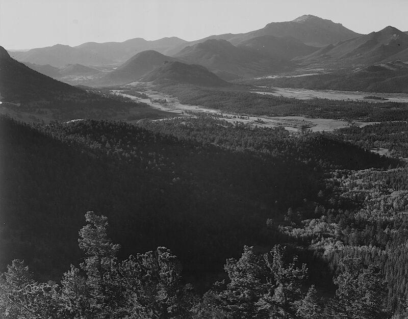 Rocky Mountain National Park - Ansel Adams desde AUX BEAUX-ARTS Decor Image