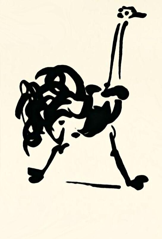 L'autruche - Picasso de AUX BEAUX-ARTS Decor Image
