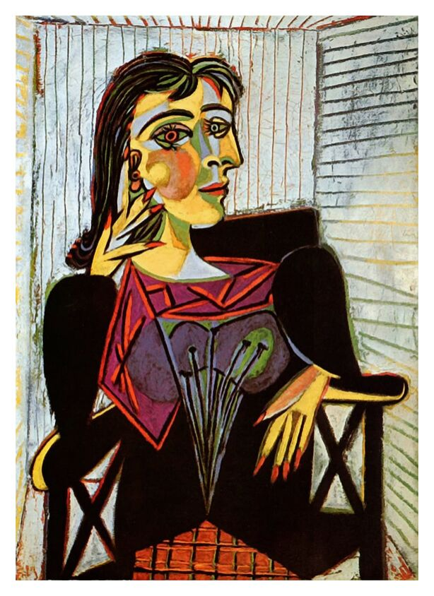 Portrait of Dora Maar - Picasso from AUX BEAUX-ARTS, Prodi Art, picasso, painting, portrait