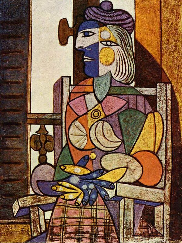 Woman Sitting in Front of The Window - Picasso desde AUX BEAUX-ARTS Decor Image