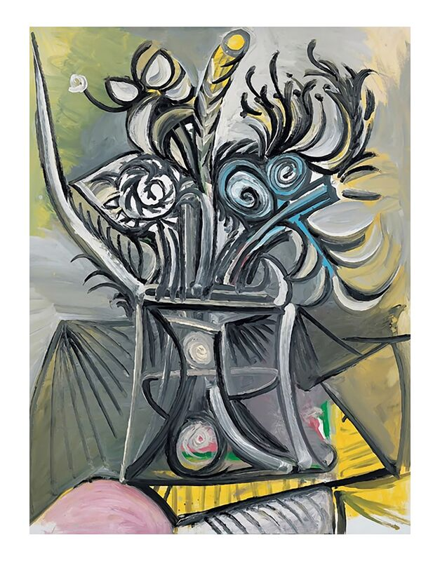 Vase of Flowers on a Table - Picasso desde AUX BEAUX-ARTS, Prodi Art, picasso, pintura, abstracto