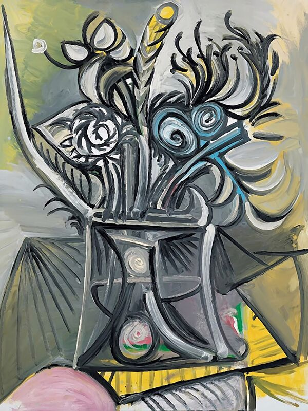 Vase of Flowers on a Table - Picasso desde AUX BEAUX-ARTS Decor Image
