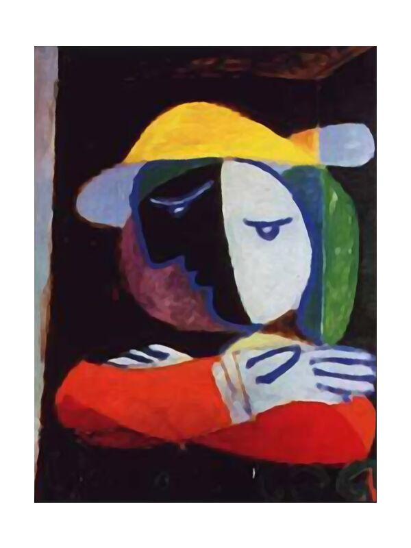 Woman on the Balcony - PIcasso from AUX BEAUX-ARTS, Prodi Art, picasso, woman, painting, abstract