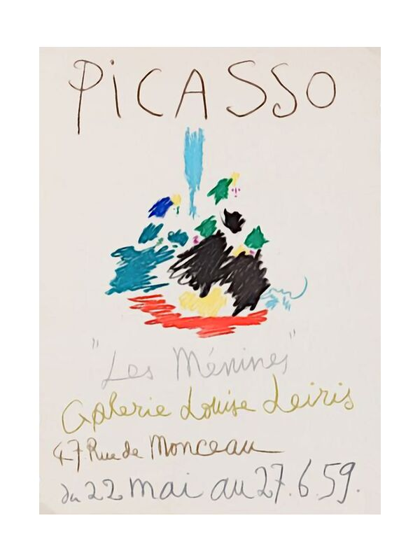 1959, Les Ménines - Picasso from AUX BEAUX-ARTS, Prodi Art, poster, pencil drawing, drawing, picasso
