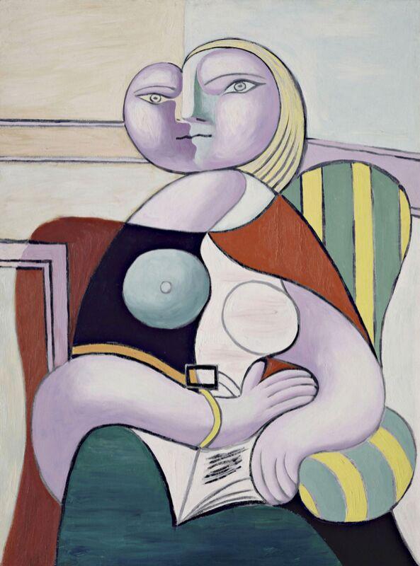 Woman Reading - Picasso desde AUX BEAUX-ARTS Decor Image
