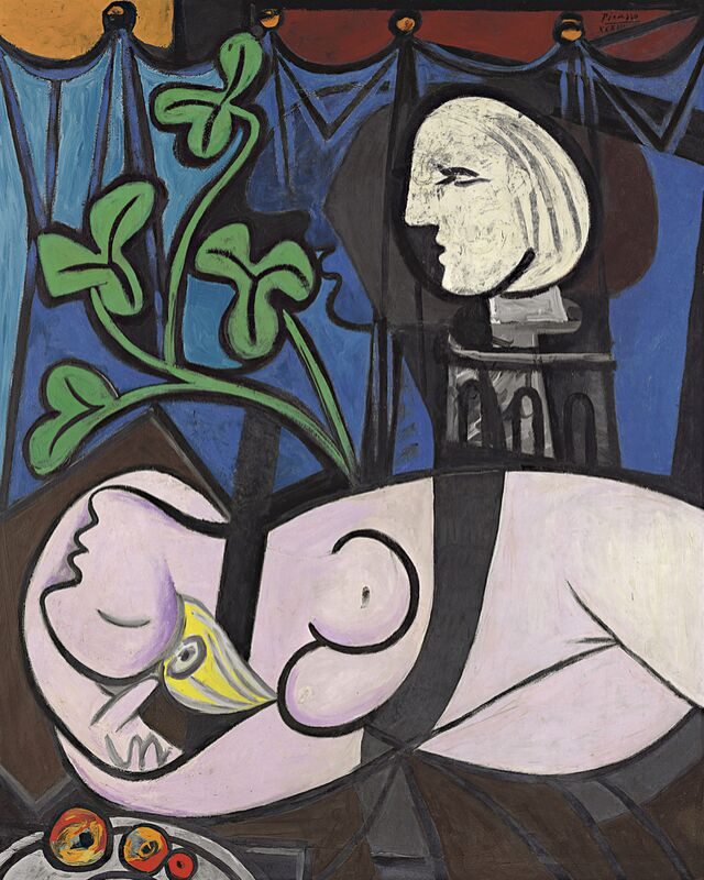 Nude, Green Leaves and Bust - Picasso from AUX BEAUX-ARTS Decor Image