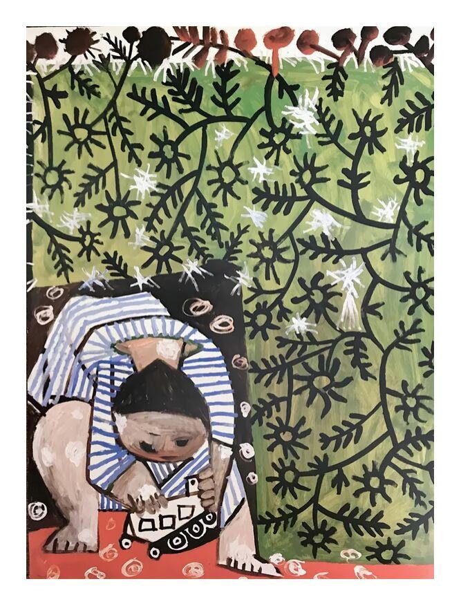 Enfant Jouant - Picasso de AUX BEAUX-ARTS, Prodi Art, abstrait, enfant, peinture, picasso