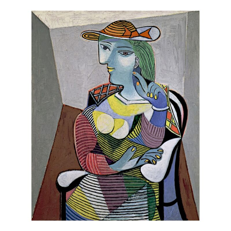 Portrait of Marie-Therese - Picasso from AUX BEAUX-ARTS, Prodi Art, picasso, portrait, abstract, painting