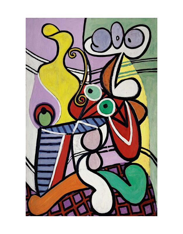Large Still Life with Pedestal Table - Picasso from AUX BEAUX-ARTS, Prodi Art, painting, abstract, picasso, still life, pedestal table