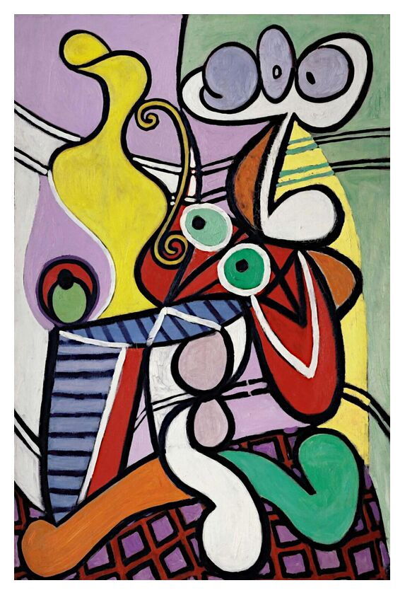 Grande Nature Morte avec Guéridon - Picasso de AUX BEAUX-ARTS, Prodi Art, guéridon, nature morte, picasso, abstrait, peinture