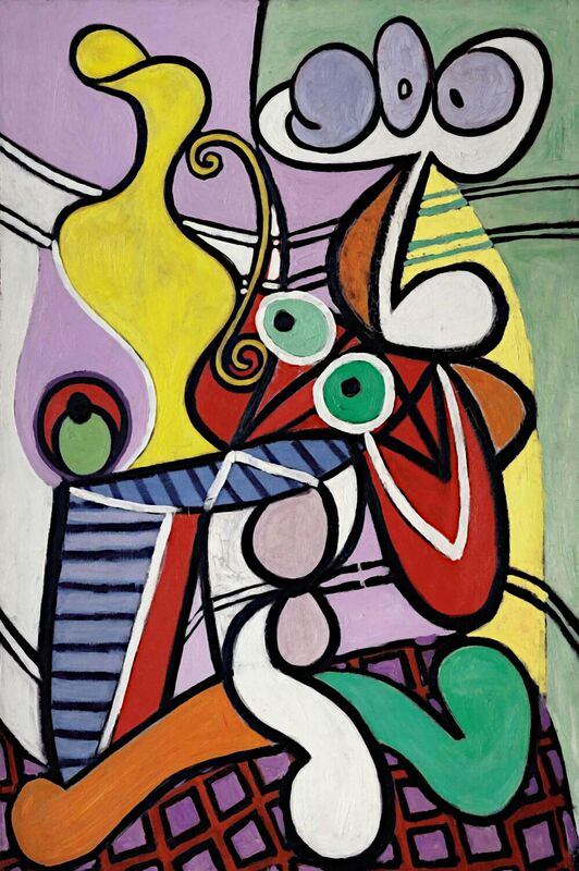 Large Still Life with Pedestal Table - Picasso from AUX BEAUX-ARTS Decor Image