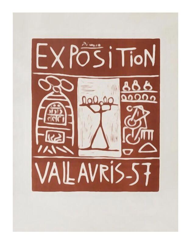 Poster 1957 - Exhibition Vallauris - Picasso desde AUX BEAUX-ARTS, Prodi Art, cartel de la exposición, picasso