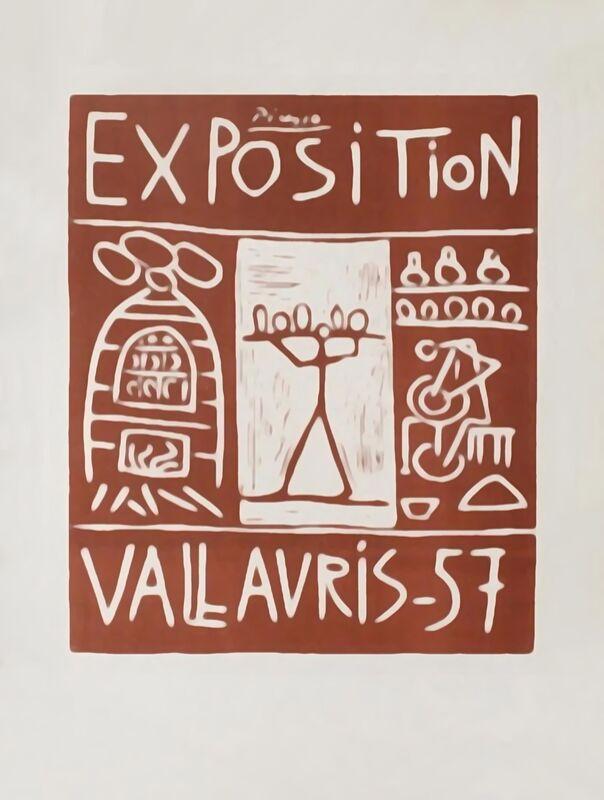 Affiche 1957 - Exposition Vallauris - Picasso de AUX BEAUX-ARTS Decor Image