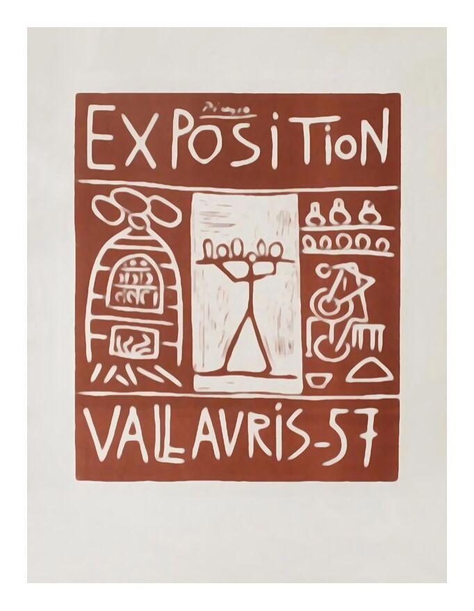 Affiche 1957 - Exposition Vallauris - Picasso de AUX BEAUX-ARTS, Prodi Art, affiche exposition, picasso