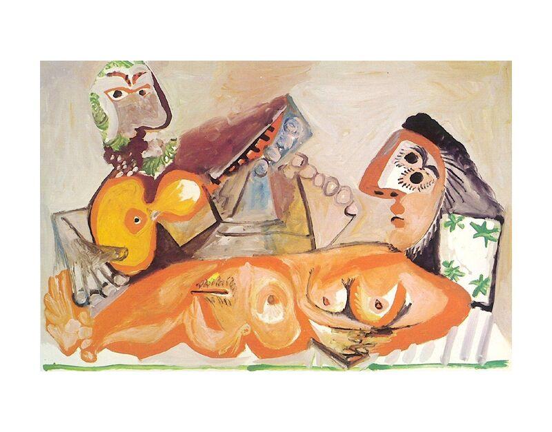 Reclining Nude and Musician - Picasso desde AUX BEAUX-ARTS, Prodi Art, pintura, picasso, desnudo, música