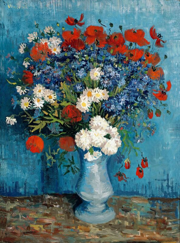 Still Life: Vase with Cornflowers and Poppies - Van Gogh from AUX BEAUX-ARTS Decor Image