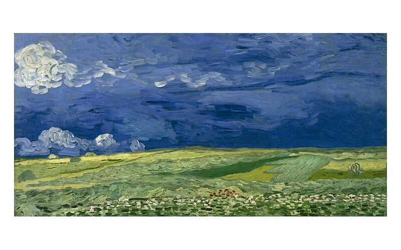 Wheatfield under Thunderclouds - Van Gogh desde AUX BEAUX-ARTS, Prodi Art, Van gogh, nube, pintura, abstracto, tormenta