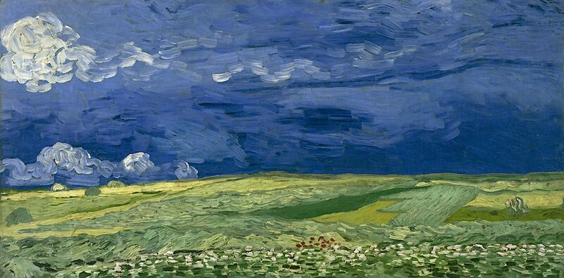 Wheatfield under Thunderclouds - Van Gogh from AUX BEAUX-ARTS Decor Image