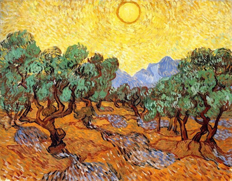 Sun over Olive Grove - Van Gogh desde AUX BEAUX-ARTS Decor Image