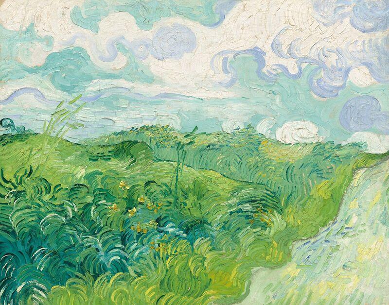 Green Wheat Fields, Auvers - Van Gogh desde AUX BEAUX-ARTS Decor Image