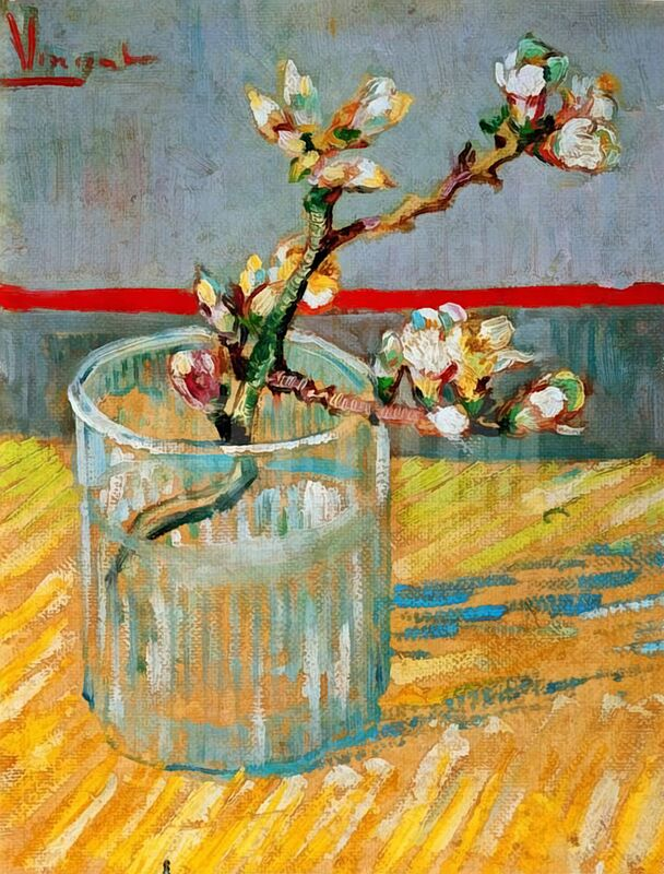 Blossoming Almond Branch in a Glass - Van Gogh desde AUX BEAUX-ARTS Decor Image