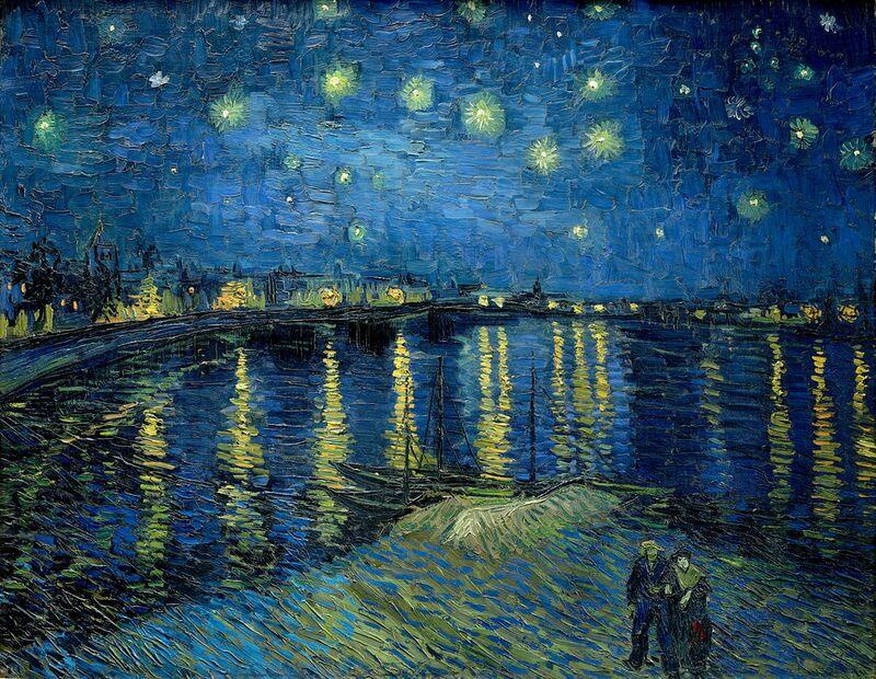 La Nuit Étoilée au Dessus du Rhône- Van Gogh de AUX BEAUX-ARTS Decor Image