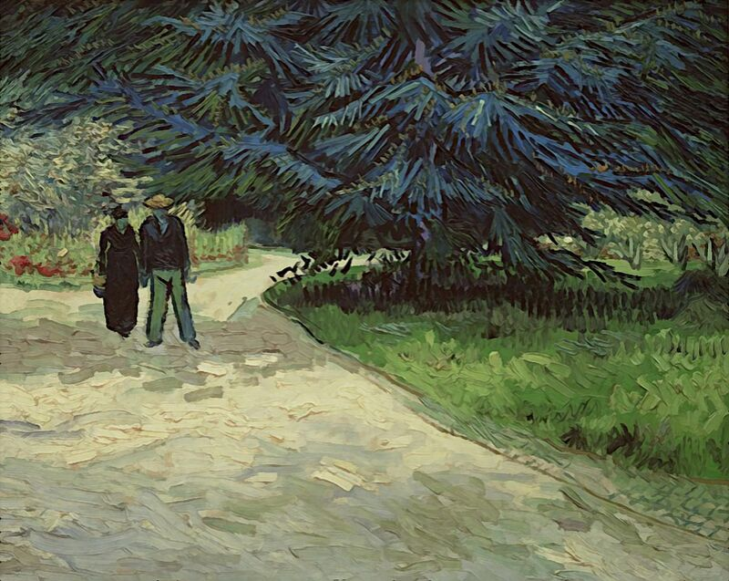 Couple in the Park - Van Gogh from AUX BEAUX-ARTS Decor Image