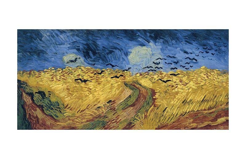 Wheatfield with Crows - Van Gogh desde AUX BEAUX-ARTS, Prodi Art, Van gogh, pintura, trigo, campos, cuervos