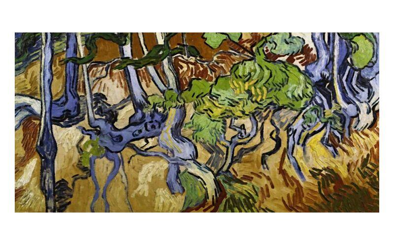 Tree Roots and Tree Trunks - Van Gogh desde AUX BEAUX-ARTS, Prodi Art, Van gogh, naturaleza, vino, raíces, viñedo