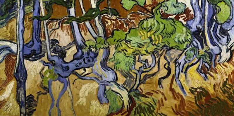 Tree Roots and Tree Trunks - Van Gogh desde AUX BEAUX-ARTS Decor Image