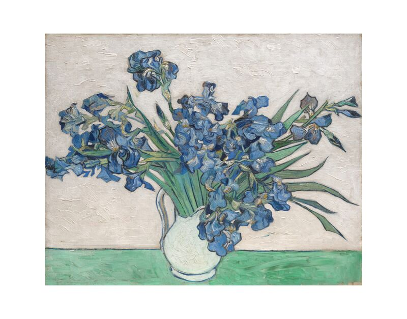 Irises - Van Gogh desde AUX BEAUX-ARTS, Prodi Art, Van gogh, pintura, iris, bodegón, flores, manojo, ramo de flores