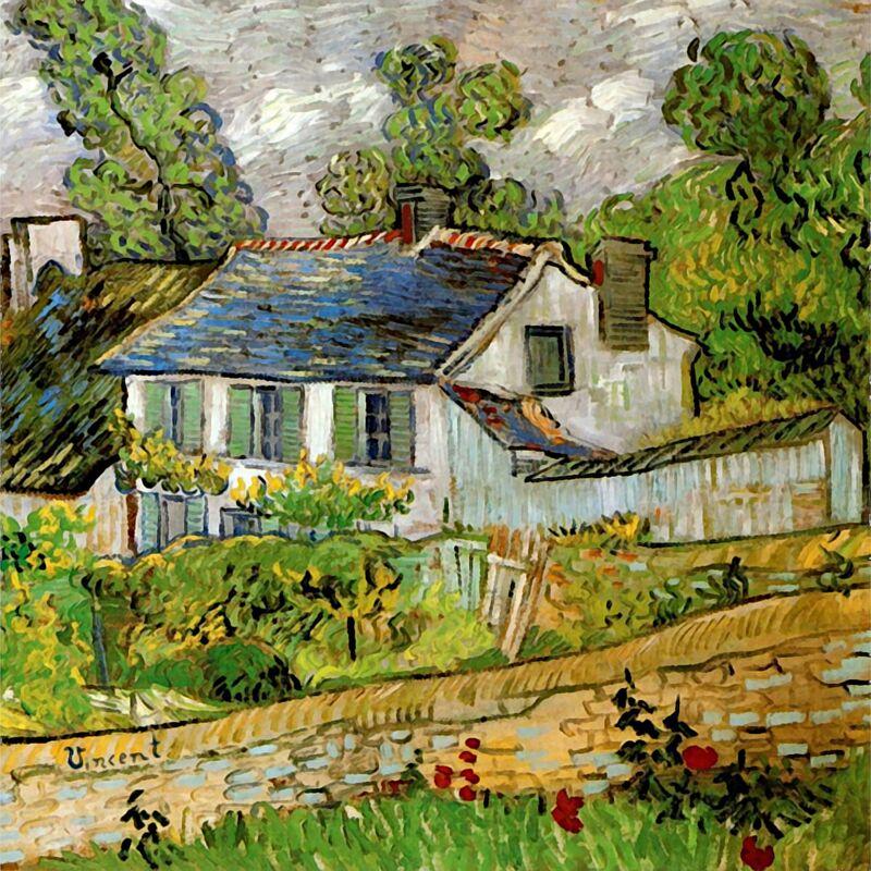 House in Auvers - Van Gogh desde AUX BEAUX-ARTS Decor Image