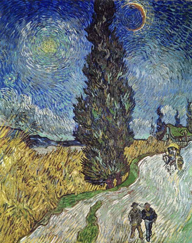 Country Road with Cypress and Star - Van Gogh from AUX BEAUX-ARTS Decor Image