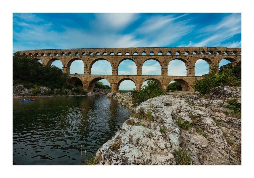 Le pont du Gard de Céline Pivoine Eyes, Prodi Art, nature, rivière, paysage, antique, architecture, pont, Patrimoine mondial, Pont du Gard