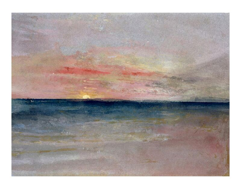 Sunset - TURNER desde AUX BEAUX-ARTS, Prodi Art, puesta del sol, pintura, sol, cielo, mar, playa, verano, TORNERO