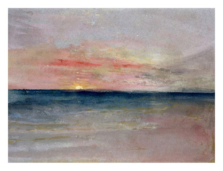 Sunset - TURNER from AUX BEAUX-ARTS, Prodi Art, sunset, painting, Sun, sky, sea, beach, summer, TURNER