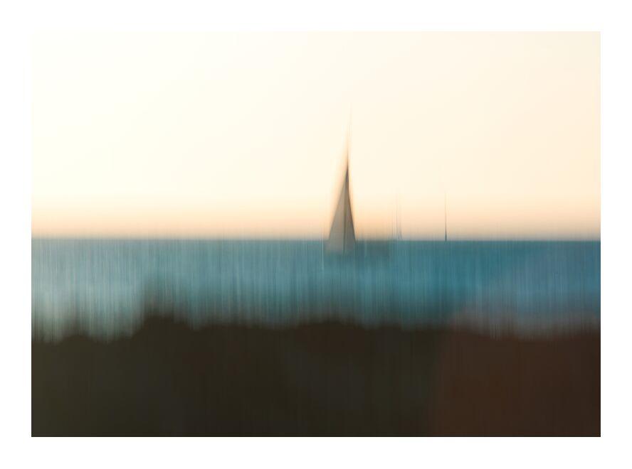 Le voilier de Céline Pivoine Eyes, Prodi Art, peinture, paysage, mer, voilier, nature, flou artistique, peinture claire, filet, Impressionnisme