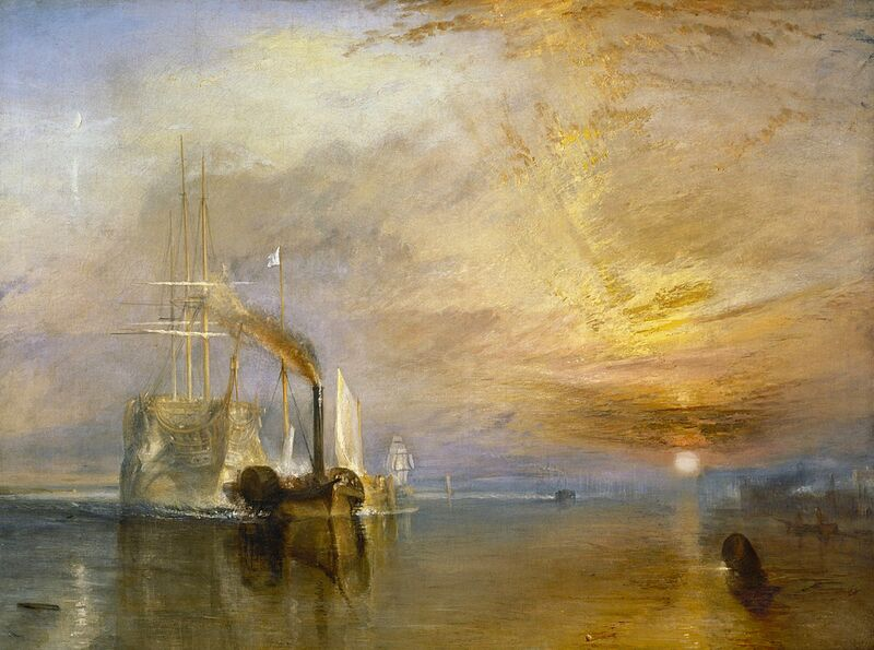 """The """"Fighting Temeraire"""" Tugged to Her Last Berth to be Broken Up - TURNER from AUX BEAUX-ARTS Decor Image"""