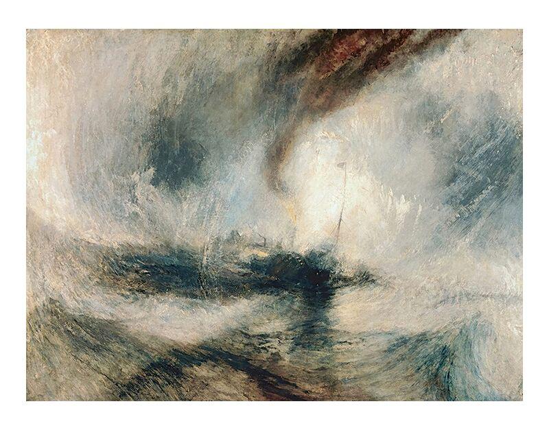 Snowstorm at Sea - TURNER desde AUX BEAUX-ARTS, Prodi Art, TORNERO, tormenta, nieve, mar, barco