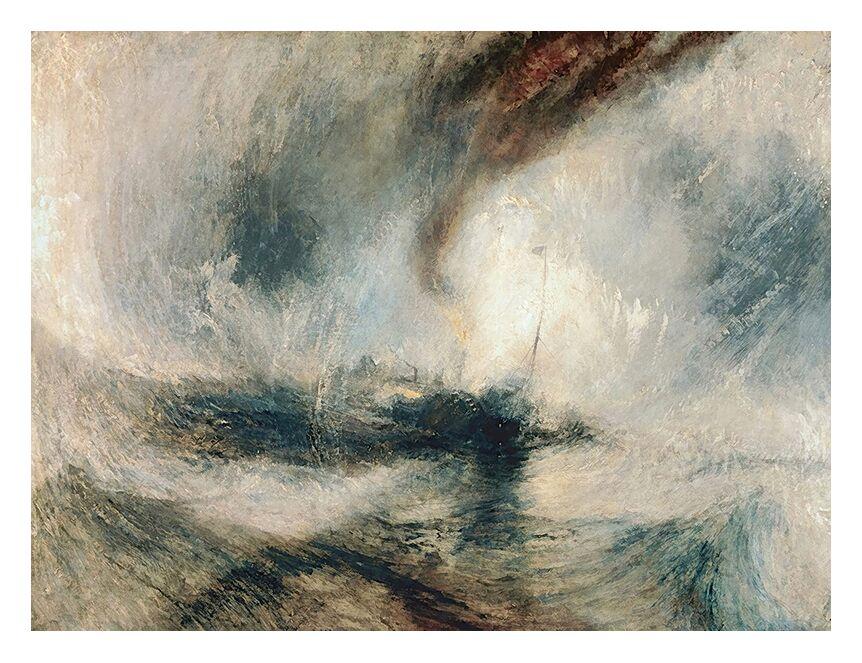 Tempête de Neige en Mer - TURNER de AUX BEAUX-ARTS, Prodi Art, TOURNEUR, tempête, neige, mer, bateau