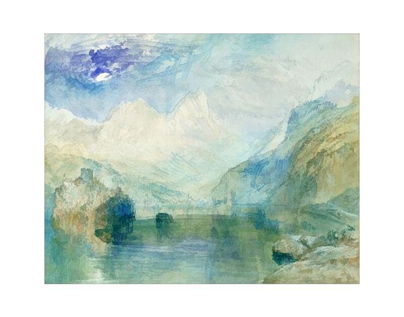 Le Lac Inférieur - TURNER de AUX BEAUX-ARTS, Prodi Art, TOURNEUR, Lac, montagnes, peinture