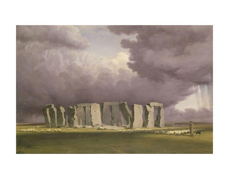 Stonehenge : Jour de tempête de AUX BEAUX-ARTS, Prodi Art, TOURNEUR, peinture, Angleterre, tempête, Stonehenge