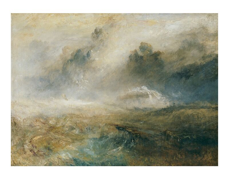 Une Mer Agitée avec des Épaves - TURNER de AUX BEAUX-ARTS, Prodi Art, TOURNEUR, peinture, mer, tempête, épaves