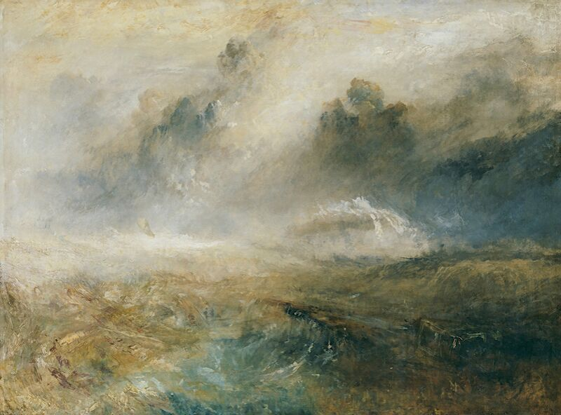 Rough Sea with Wreckage - TURNER from AUX BEAUX-ARTS Decor Image