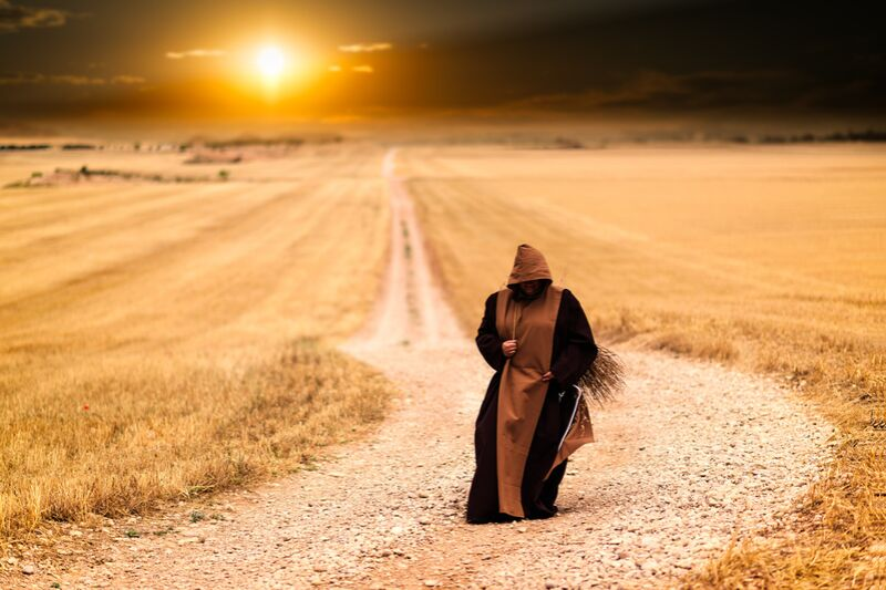 The walk of the monk from Pierre Gaultier Decor Image