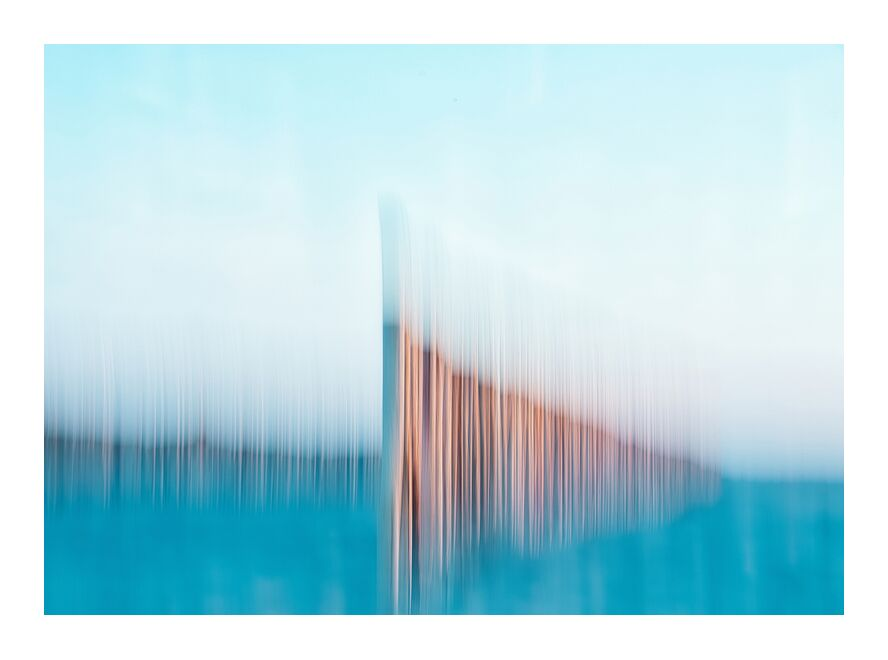 Les ganivelles sur la plage de Gruissan de Céline Pivoine Eyes, Prodi Art, abstrait, Photographie abstraite, mer, paysage, Mouvement intentionnel de la caméra, ICM, art abstrait, gruissan, plage, Ganivelles, Fou artistique